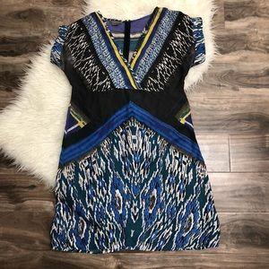 Kenar silk dress with beautiful print